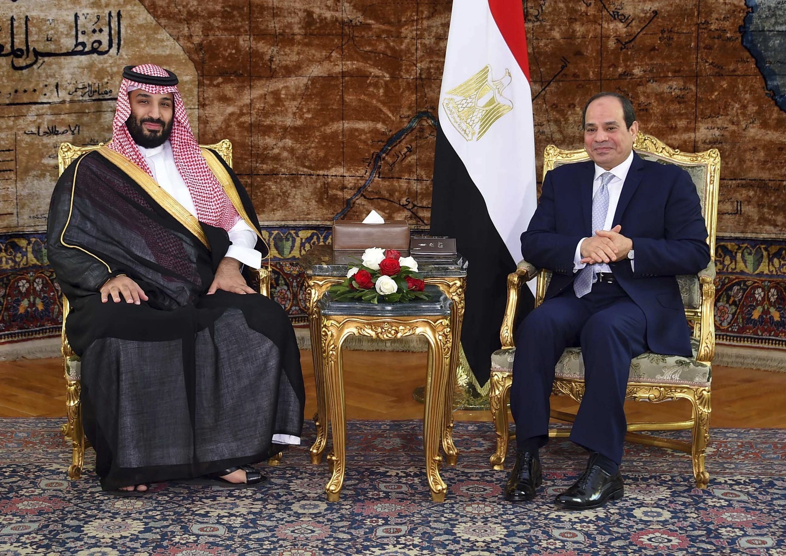 Mohammed bin Salman and Abdel Fateh al-Sisi