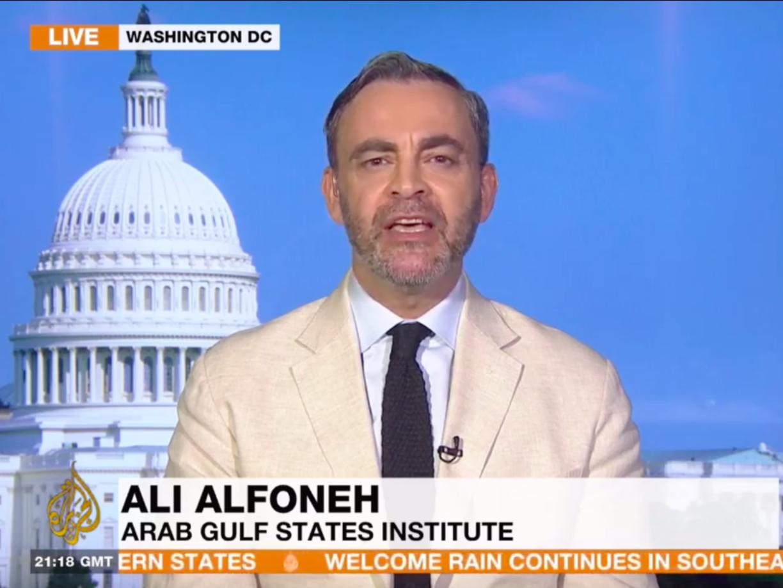Ali Alfoneh speaking with Al Jazeera