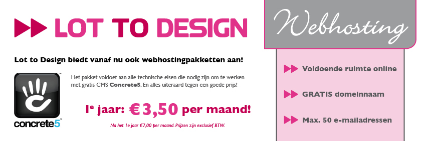 Lot to Design webhosting voor Concrete5