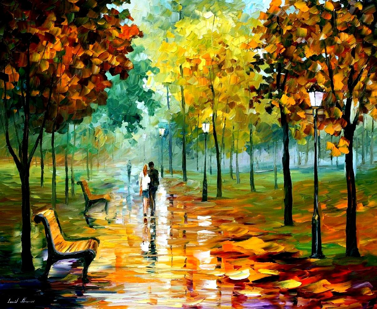 Autumn Leafs by Leonid Afremov
