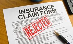 Insurance Claim Form Rejected