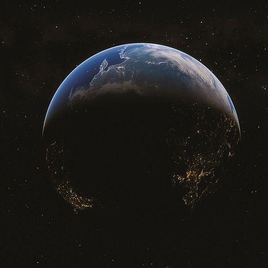Földgolyó az űrből. (kép)