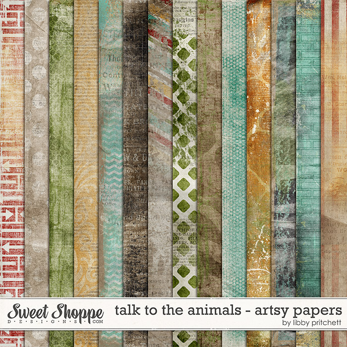 Talk To The Animals Artsy Papers by Libby Pritchett