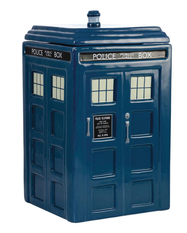 DOCTOR WHO – THIRTEENTH DOCTOR – TARDIS FIGURAL COOKIE JAR