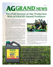 Fall 2012 AGGRAND News