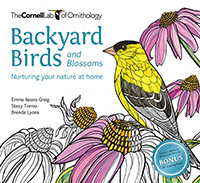Backyard Birds and Blossoms coloring book
