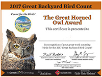 GBBC participation certificate