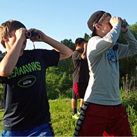 Student birders courtesy BirdSleuth