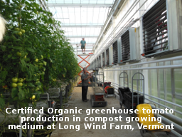 photo of greenhouse at Long Wind Farm