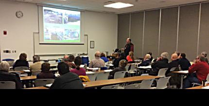 photo of Dane Terrill presenting at Organicc Intensives