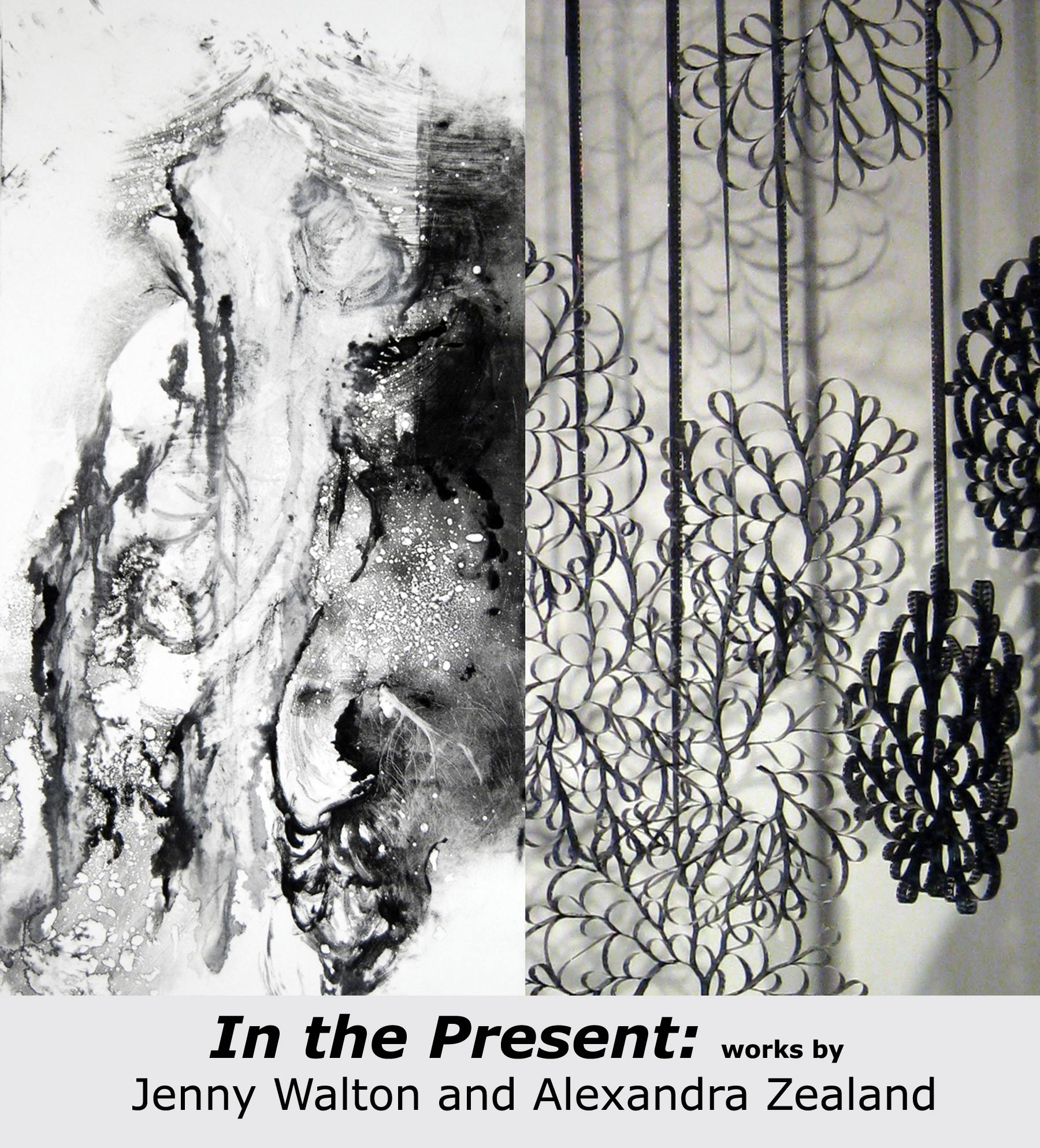 In the Present: works by Jenny Walton and Alexandra Zealand