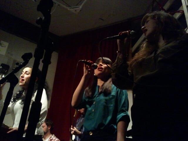 Karina Denike, Melody Ferris, Lily Taylor at Red Poppy Art House 2013