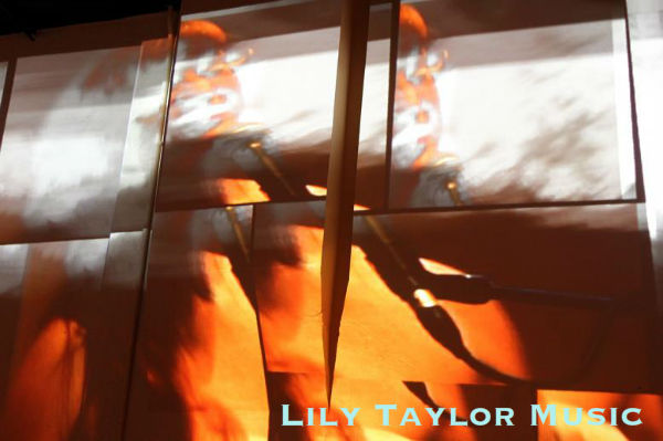 Lily Taylor Music photo by Hillary Whitehead, projection by Peter Rand