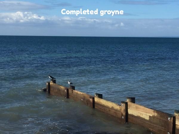 groyne after completion