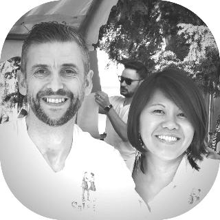 Photo de Cyrille Choque avec sa partenaire Miriam Angeles
