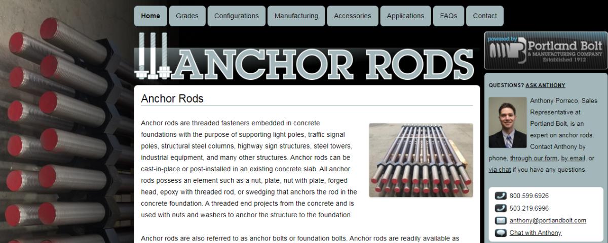 www.anchorrods.com | Portland Bolt
