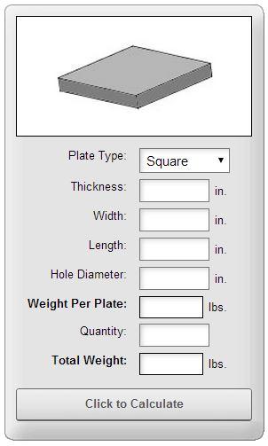 Plate Weight Calculator