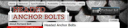 Headed Anchor Bolt Microsite | Portland Bolt