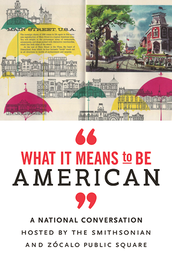 """What It Means to Be American"" logo"