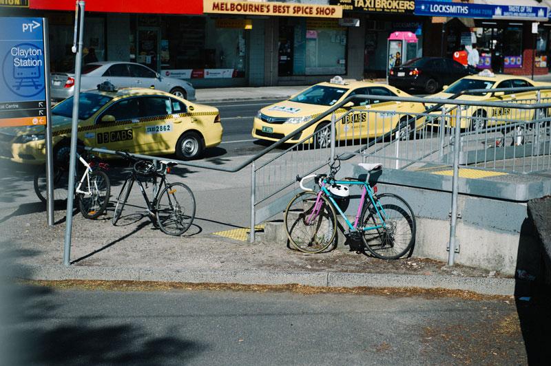 Retro Road Bike near Clayton Train Station