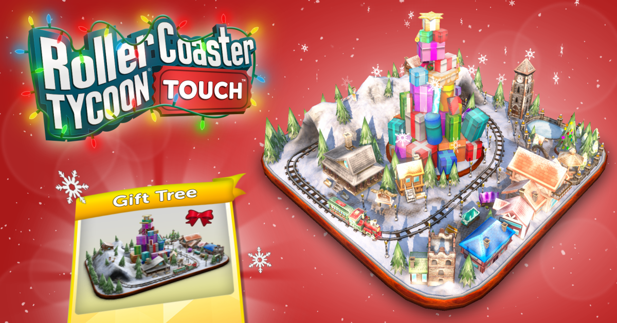 Deck the Halls and Roller Coasters With Holiday Cheer in RollerCoaster Tycoon Touch's Winter Holiday Update