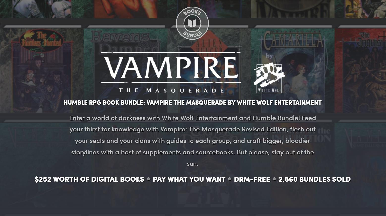 Vampire: The Masquerade humble bundle