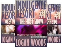 "Various covers for ""Indulgence Resort"" titles"