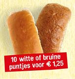 10 witte of bruine puntjes