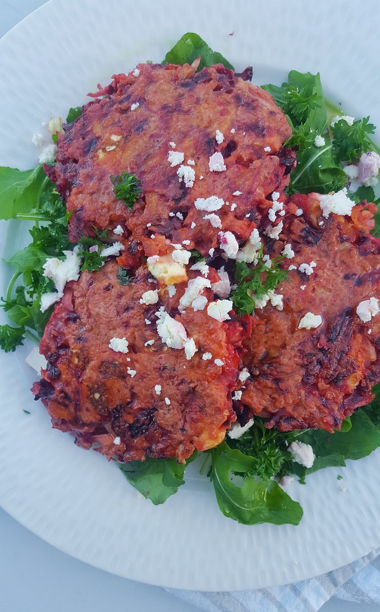 Beetroot-fritter