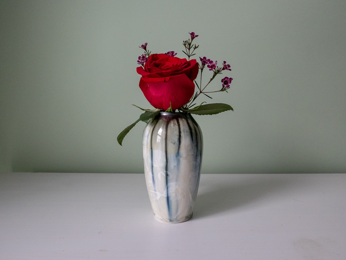 Wildflower Vase with Rose