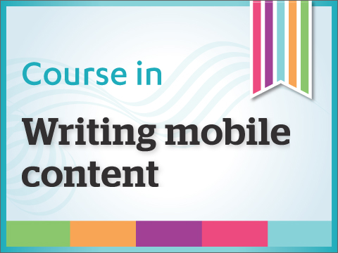 Writing mobile content course