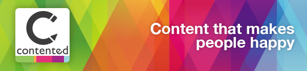 Contented online newsletter banner: Content that makes people happy