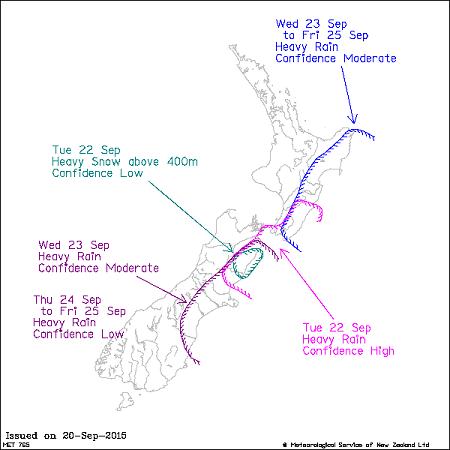 Image: NZ Metservice Severe Weather Warning September 2015