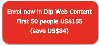 Diploma in Web Content for US$155
