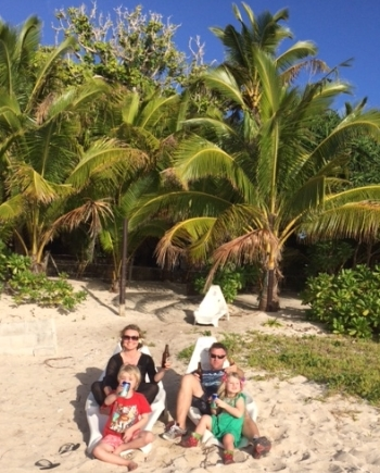 Alice and family in Tonga