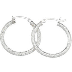 Sparkle Hoops: Size: 25.50mm