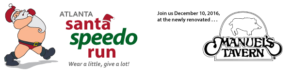 Atlanta Santa Speedo Run email banner