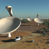 Simulated image of the future Square Kilometre Array (SKA)