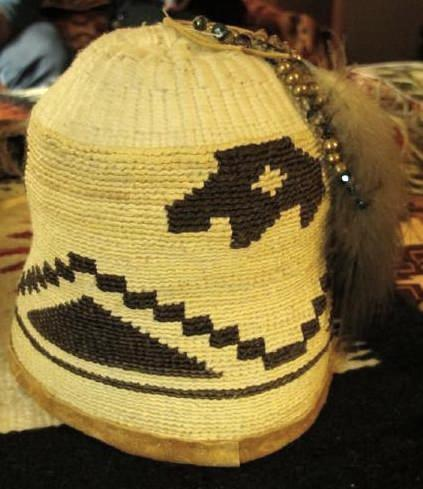Traditional cornhusk hat made by Melinda Broncheau.
