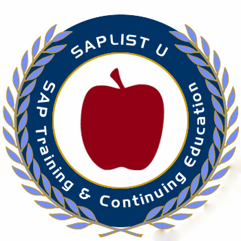 SAPlist U: SAP Training & Continuing Education