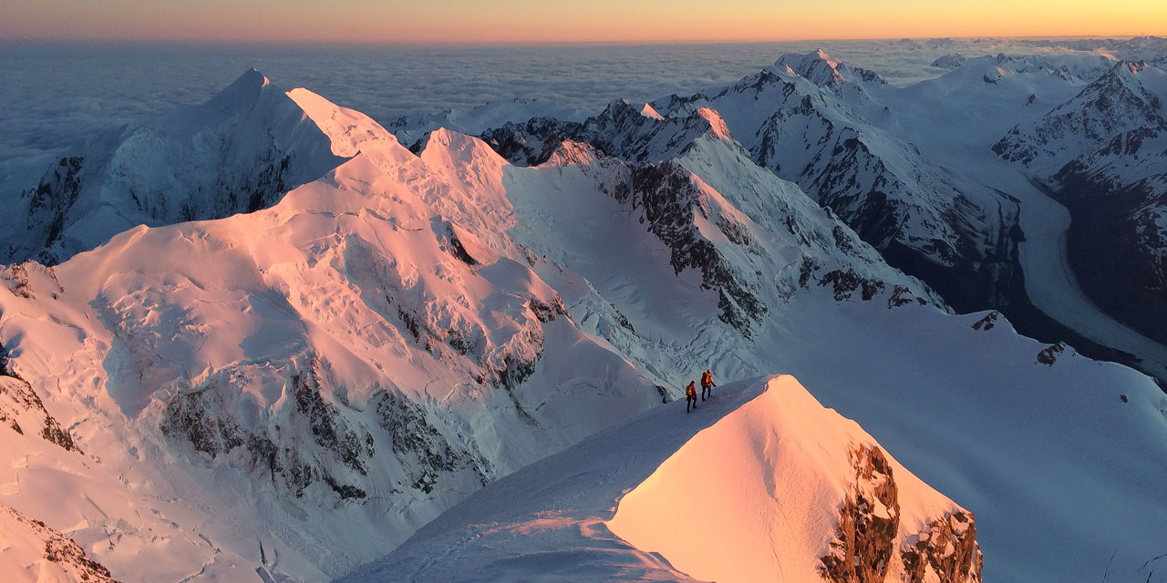 Guided ascent of Aoraki / Mt. Cook
