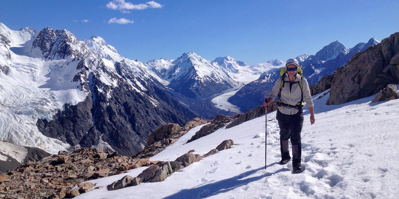 Trekking along Ball Ridge