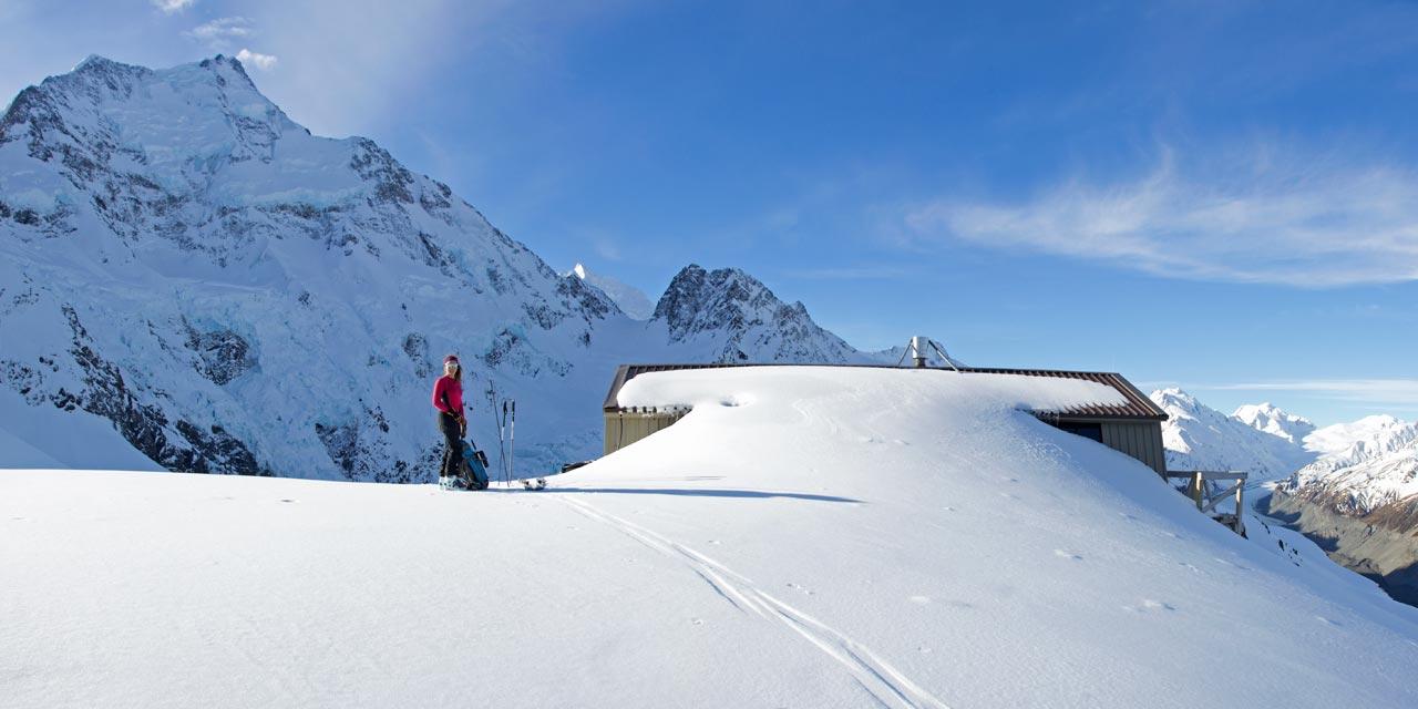 Caroline Hut in winter