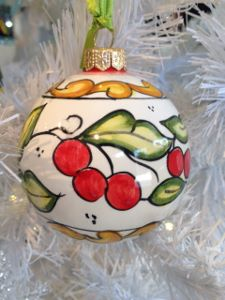 Ornament with cherries