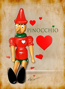 Pinocchio Art Work (Copyrighted - Do not replicate)