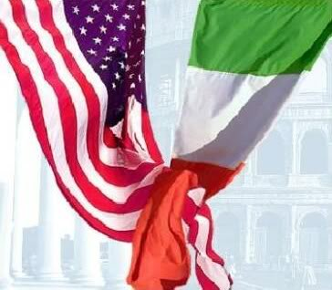 Italian and American flags