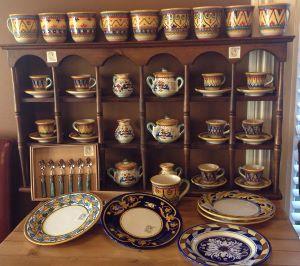 ceramics in cupboard