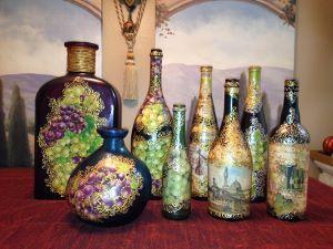 embellished wine bottles