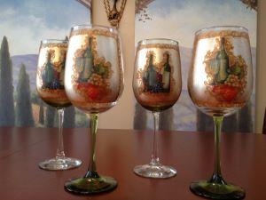 embellished wine glasses