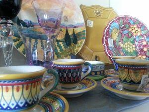Italian ceramic coffee cups & saucers